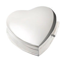 Silver Heart Pill Box