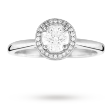 Brilliant cut 0.60 total carat weight diamond cluster ring in Platinum