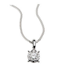 Brilliant Cut 0.19ct Solitaire Style Pendant