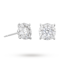 Brilliant Cut 1.37ct Solitaire Style Studs