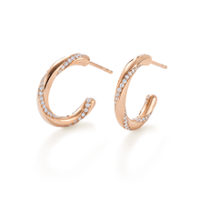 Fortune Duo Rose Gold Hoop Earrings