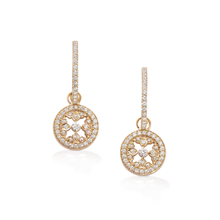 Empress Rose Gold and Diamond Hoop Earrings