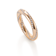 Fortune Trio Rose Gold Diamond Ring